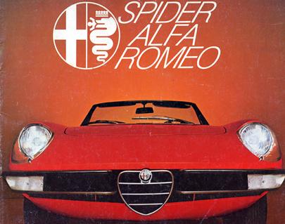 Catalogue publicitaire brochure alfa romeo alfa romeo for Interieur alfa spider 2000